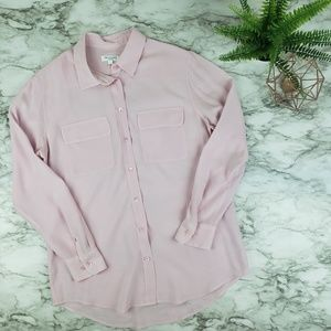 Equipment I Button Front Silk Blouse
